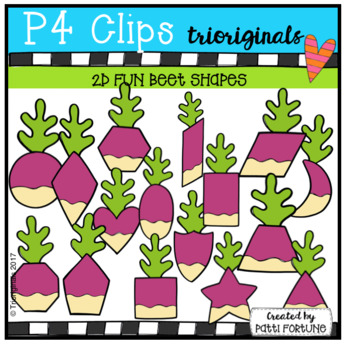 2D FUN Beet Shapes (P4 Clips Trioriginals Clip Art)