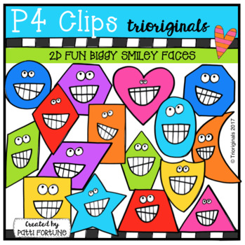 2D FUN Biggy Smiley Faces (P4 Clips Trioriginals Clip Art)