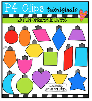 2D FUN Christmas Lights Shapes (P4 Clips Trioriginals)
