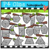 2D FUN Chrysalis Shapes (P4 Clips Trioriginals Clip Art)