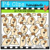 2D FUN Dog Shapes (P4 Clips Trioriginals Digital Clip Art)