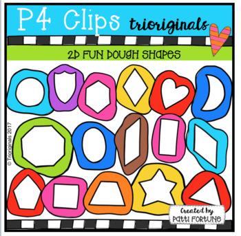 2D FUN Dough Cutout Shapes (P4 Clips Trioriginals Clip Art)