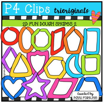 2D FUN Dough Shapes (P4 Clips Triorignals Clip Art)