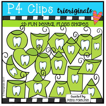 2D FUN Floss Shapes (P4 Clips Trioriginals Clip Art)