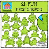 2D FUN Frog & Lily Pad Shapes {P4 Clips Trioriginals Digital Clip Art}