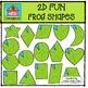2D FUN Frog & Lily Pad Shapes {P4 Clips Trioriginals Digit