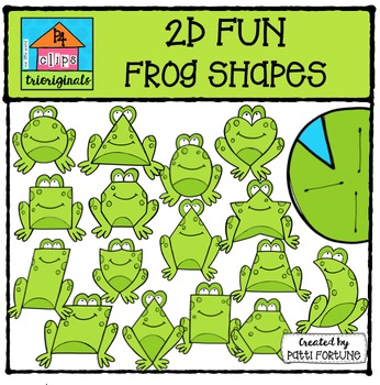 2D FUN Frog & Lily Pad Shapes {P4 Clips Trioriginals Digit