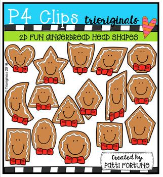 2D FUN Gingerbread Heads (P4 Clips Trioriginals)