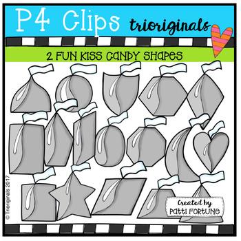 2D FUN  Kiss Candy Shapes (P4 Clips Trioriginals Clip Art)