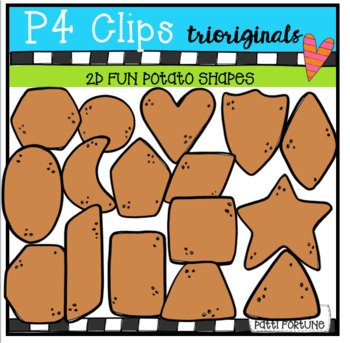 2D FUN Potato Shapes (P4 Clips Trioriginals Clip Art)