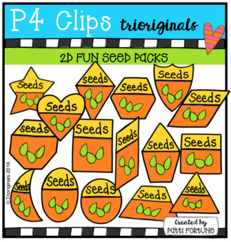 2D FUN Seed Packs (P4 Clips Trioriginls Clip Art)