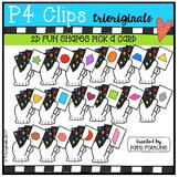 2D FUN Shapes Card Trick (P4 Clips Trioriginals Clip Art)