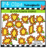 2D FUN Spring Time Flowers (P4 Clips Trioriginals Clip Art)