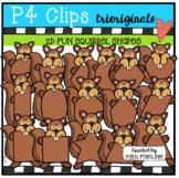 2D FUN Squirrel Shapes (P4 Clips Trioriginals Clip Art)