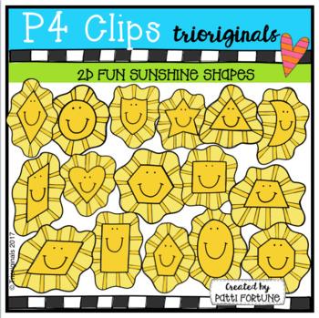 2D FUN Sunshine Shapes (P4 Clips Trioriginals)