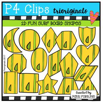 2D FUN Surf Board Shapes (p4 Clips Trioriginals Clip Art)
