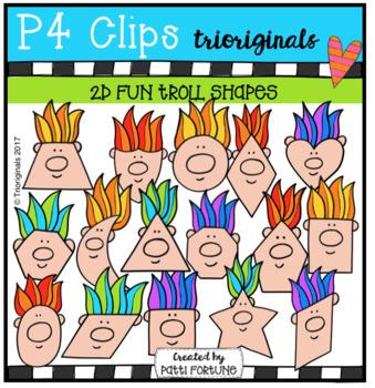 2D FUN Troll Shapes (P4 Clips Trioriginals Clip Art)