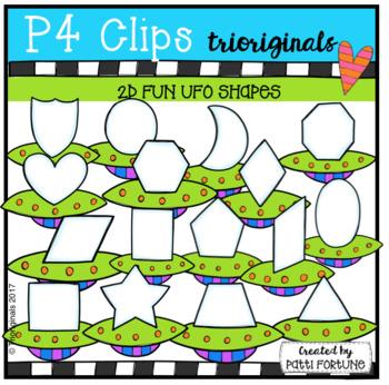 (50% OFF) 2D FUN UFO Shapes (P4 Clips Trioriginals Clip Art)