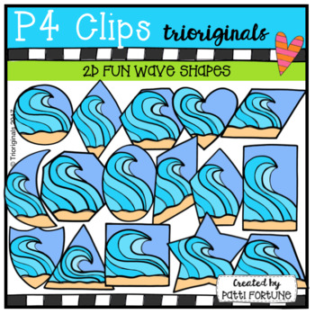 2D FUN Wave Shapes (P4 Clips Trioriginals Clip Art)