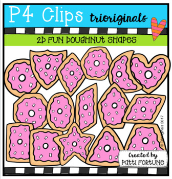 2D FUN doughnut Shapes (P4 Clips Trioriginals Clip Art)