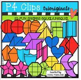 2D Shapes (Equal and Not Equal Parts) P4 Clips Trioriginals