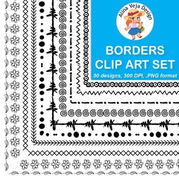 Borders Clip Art Set 5