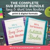 Long Term Sub Binder (Maternity Leave) Binder & Short Term