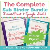 Long Term Sub Binder (Maternity Leave) Binder & Short Term Substitute Bundle