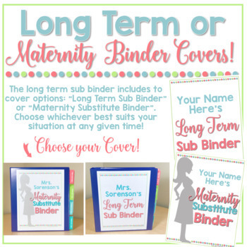 Long Term Substitute Binder (or Maternity Leave Sub) & Planner ADD-ON