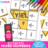 Decomposing Mixed Numbers & Fractions Worksheets | Secret