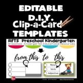 EDITABLE D.I.Y. Clip-a-Card TEMPLATES (Powerpoint Template)