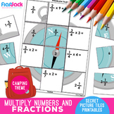 Multiply Whole Numbers & Fractions Worksheets | Secret Pic
