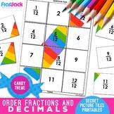 Ordering Fractions & Decimals Worksheets | Secret Pictures