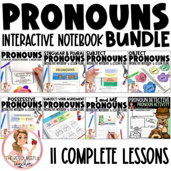 {50% OFF 48 HRS} Pronouns Interactive Notebook Unit
