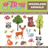 Woodland Animals Clip Art (Digital Use Ok!)