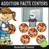 Addition Facts 1-12 Centers Basketball Theme