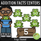 Addition Facts 1-12 Centers Frogs Theme
