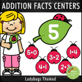 Addition Facts 1-12 Centers Ladybug Theme