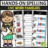 CVC Word Families Spelling Strips