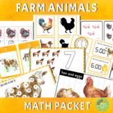 Farm Animals Math Packet