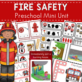 Fire Safety Themed Preschool Kindergarten Mini Unit