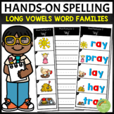 Long Vowels Word Families Spelling Strips