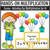 Multiplication By 4s - Center Activities