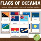 [50%OFF 48hrs] Oceania Australia Flags Montessori 3 Part Cards