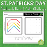 St. Patrick's Day Geoboards Draw and Color Pack