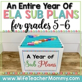 A Year of Emergency Substitute Plans for 5th, 6th Grade Su
