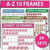 A-Z 10 Frames Clipart (Ten Frames Clipart)
