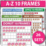 A-Z 10 Frames Make 10 Number Cards 10-frames