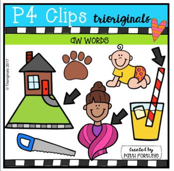 AW Words (P4 Clips Trioriginals Clip Art)