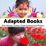 Adapted Books for Autism Bundle - Five Senses, Colors, Farm Animals